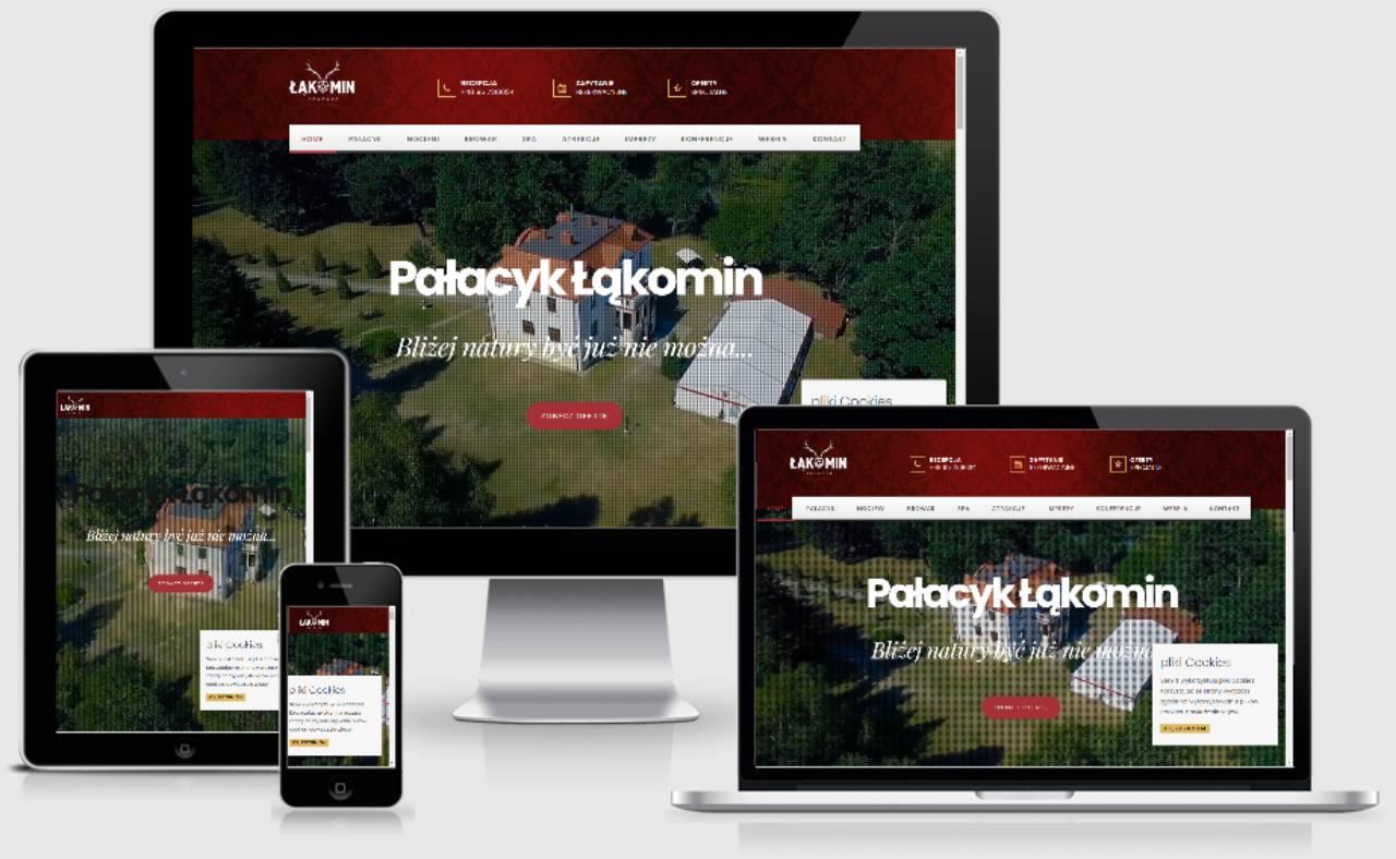 ROAN24 Pałacyk Łąkomin Strona Internetowa Responsywność