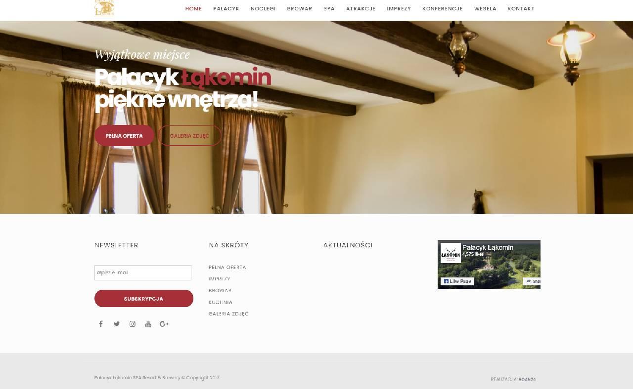 ROAN24 Pałacyk Łąkomin Strona Internetowa HOME Stopka
