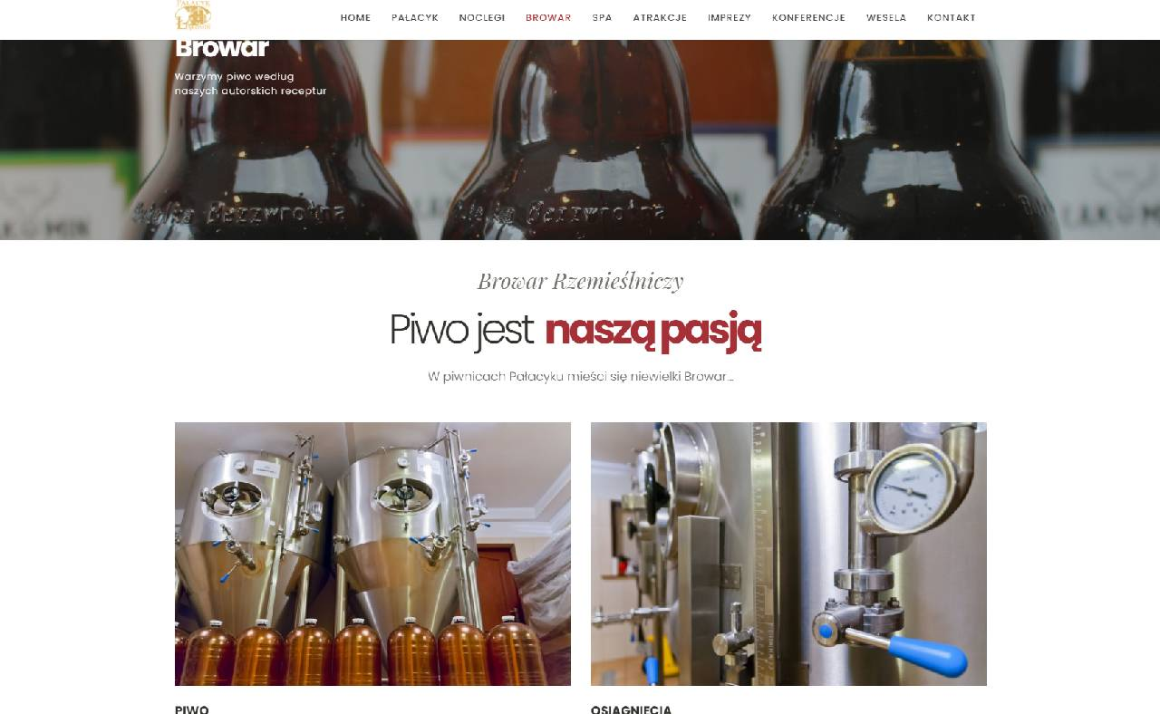 ROAN24 Pałacyk Łąkomin Strona Internetowa Browar