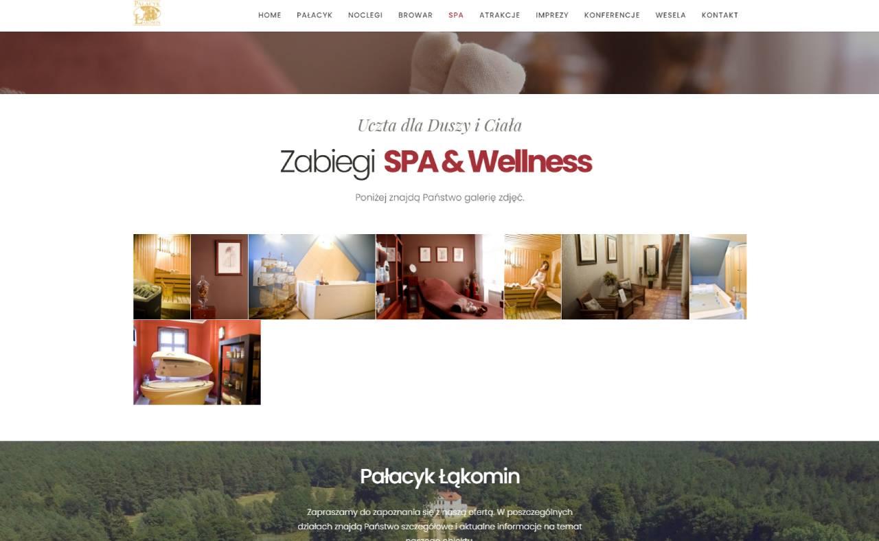 ROAN24 Pałacyk Łąkomin Strona Internetowa SPA