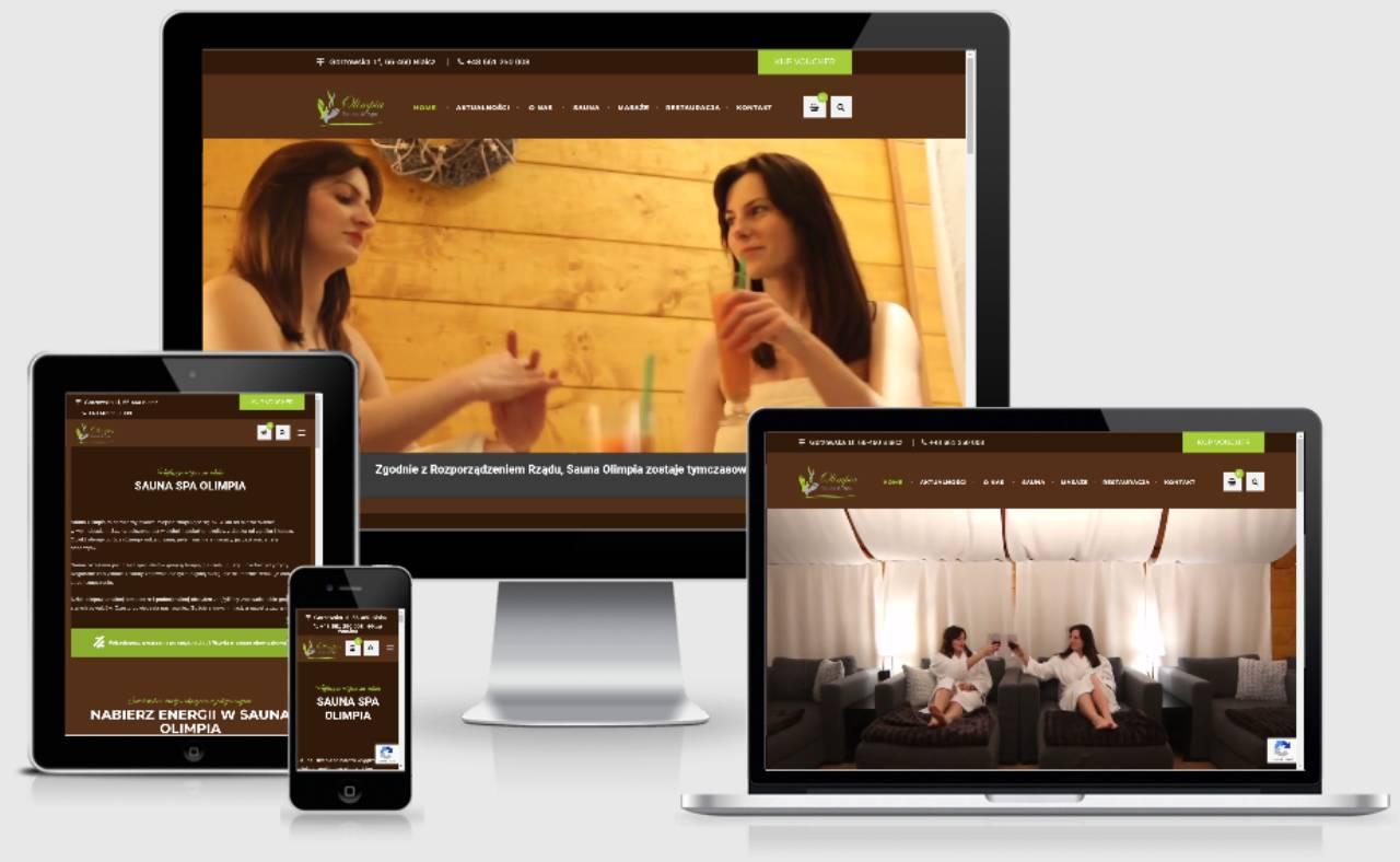 ROAN24 Sauna Olimpia Strona Internetowa Responsywność