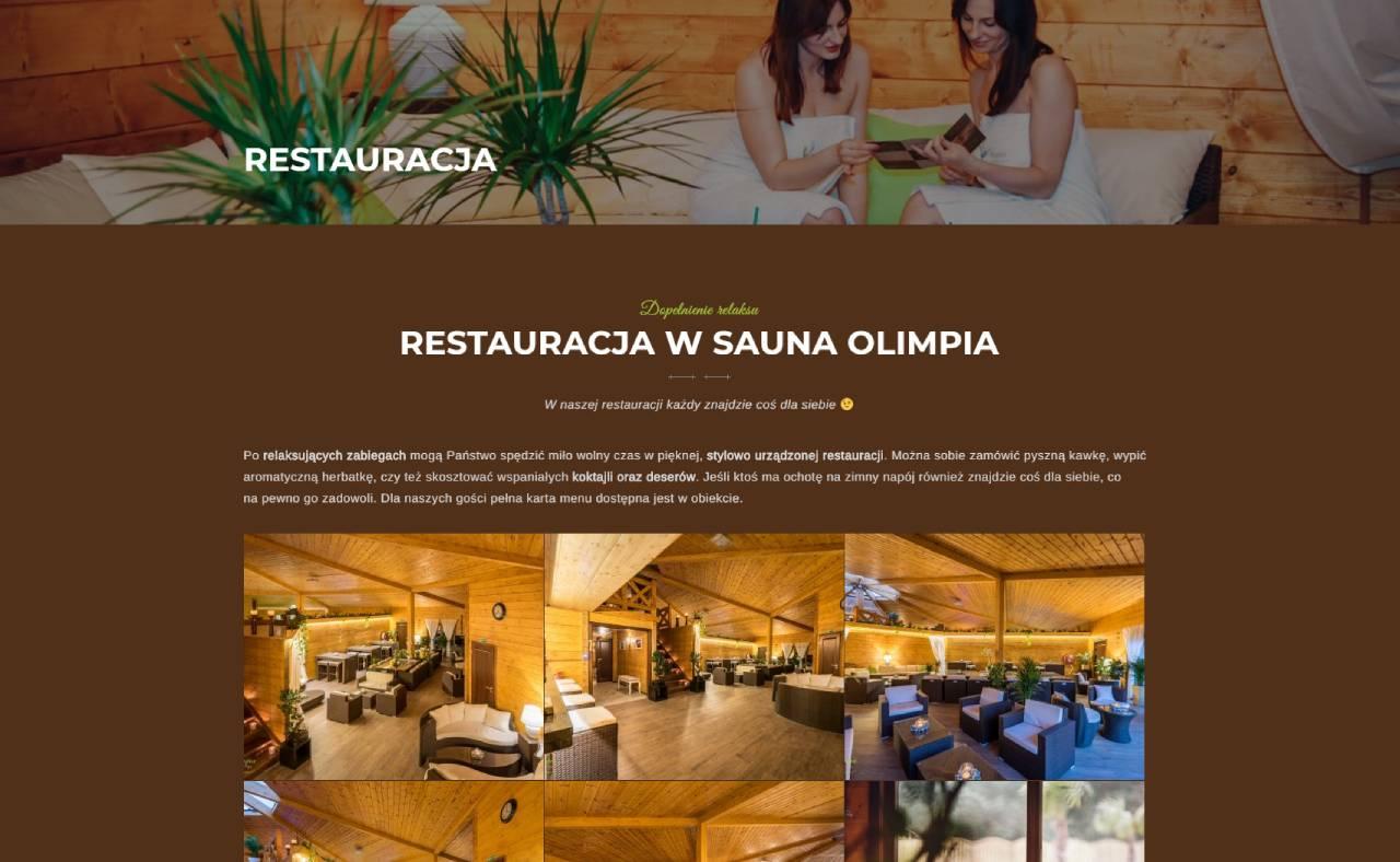 ROAN24 Sauna Olimpia Strona Internetowa Restauracja