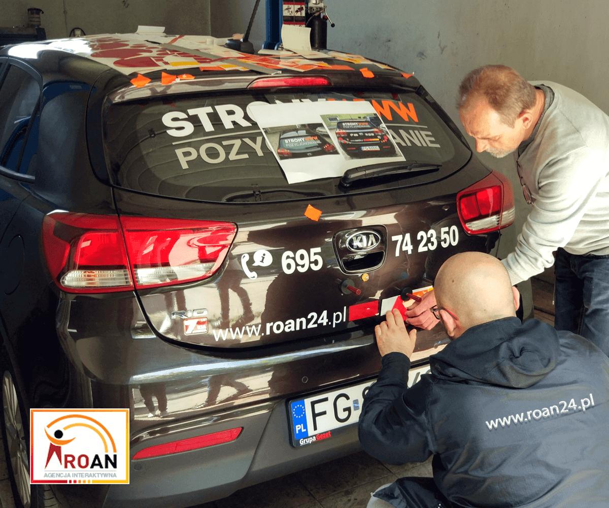 Samochodowa Reklama Oklejanie Roan24.pl